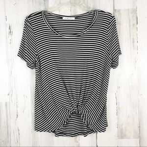 On The Road Stripe Knotted Top Shirt